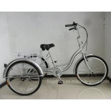 """Triciclo con marco tipo S de 24 """"con velocidad 6 Shimano (FP-TRCY038)"""