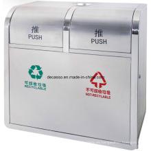 Dos compartimientos que reciclan el bote de basura (DL109)