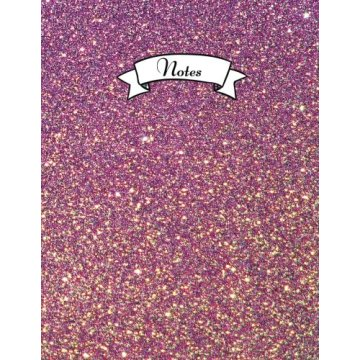 PINK PURPLE GLITTER NOTEBOOK-0