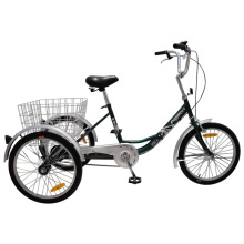 "Cheap 24"" Single Speed Cargo Delta Tricycle"