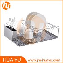 Plat à vaisselle avec plateau chromé