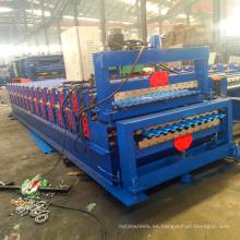la máquina hace las hojas corrugadas de acero hechas en China