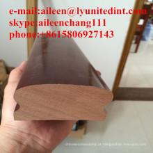corrimão de madeira maciça