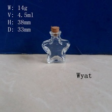5ml Five-Pointed Star Glass Wishing Bottle Mini Glass Bottle