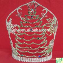 2014 Corona de Papá Noel, corona grande del desfile, tiaras animales altas para la venta