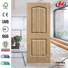 JHK-S01 Epaisseur 5mm Lattice et bois de grain Nature Peinture de porte de placage de chêne
