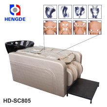 2016 Hengde HD-SC805 salão shampoo cama com massagem de corpo inteiro