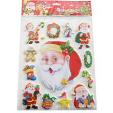 kids cute merry Father christmas holiday stickers