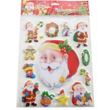 дети милые веселые Дед Мороз праздник наклейки