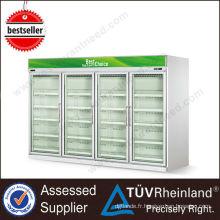 Chine continentale Showcase supermarché réfrigérateur et congélateur