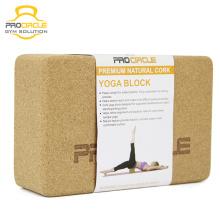 Procircle Custom Printing Natural Cork Yoga Block