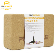 Procircle Custom Printing Natural Cork Yoga Block