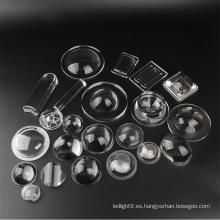 Lente de menisco transparente de alta calidad para luz LED