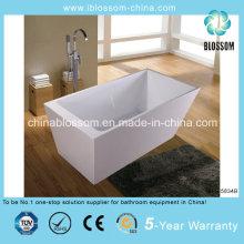 Novo modelo retângulo profunda imersão banheira acrílica autônoma (BLS-5834B)