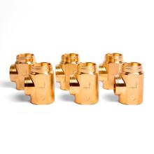 Factory Custom Cooper CNC Machining Parts Precision Tube Brass Machine Spare Parts CNC Lathe Brass Tube Pipe Parts