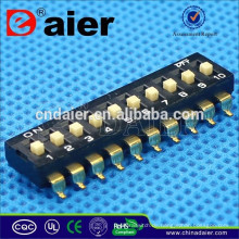 Daier Black 1 ~ 12 Position Kunststoff SMD Typ DM-Serie Rotary Dip Switch