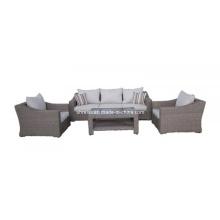 Conjunto de sofá jardim ao ar livre de vime do Rattan Lounge mobília do pátio