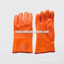 Песчаный отделка пены лайнер зимние перчатки PVC-5123
