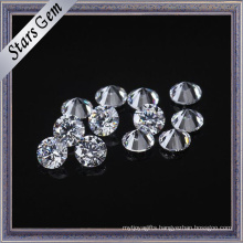 2.0mm Round Clear White Wax Casting Cubic Zirconia