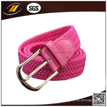 New Fashion Polyester Braid Stretch Belt with Pin Buckle