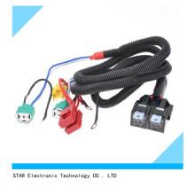 Adaptador elétrico do chicote de fios do fio da ampola do farol de H4 30A auto para o carro
