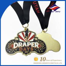 Medalla de maratón de esmalte suave de la concesión de encargo al por mayor