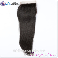 Pre Plucked Cuticle Aligned Brazilian Virgin Hair 4X4 Lace Closure With Baby Hair