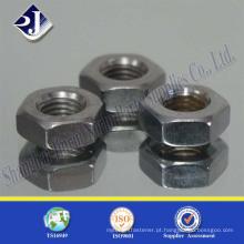 Fornecedor da porca hexagonal galvanizada de aço de boa resistência da China