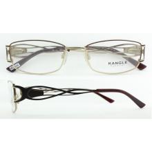 2017 derniers cadres de lunettes de vue en métal de conception avec charnière à ressort