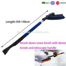 Cepillo de nieve desmontable K / D con cerdas densa y suave y mango telescópico