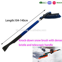 detachable K/D snow brush with dense&soft bristle and telescopic handle