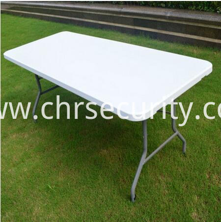 White Outdoor Folding Table