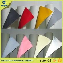 Material de cuero sintético reflectante de la PU del alto lustre para los zapatos que se divierten