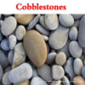 Piedra natural del jardín pulida, piedra del guijarro del río para el ajardinar y el pavimentar