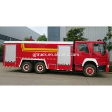 Camión de bomberos de 6 * 4 RHD 12CBM HOWO / coche de bomberos / camión de bomberos del polvo / camión de bomberos de la escalera / camión de bomberos del aeropuerto / camión de bomberos de la espuma del agua