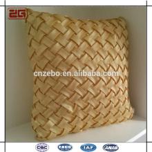 Proveedor al por mayor de China Santin Style Gold Mat Grano Woven Santin Estilo Cojines Throw almohadas