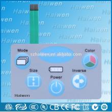 Novo produto personalizado novo interruptor de membrana com LED backlit