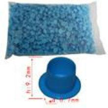 Petite tasse encre de tatouage bleue en plastique bleu