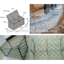 Professional manufacture gabion Stone cage netting 2*1*1& hexagonal wire netting mesh for stone wall (own factory)