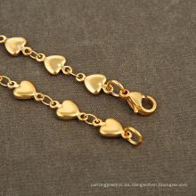Joyería de la pulsera de la cadena del encanto del corazón del estilo africano de un dólar