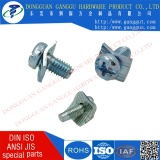 Cheese head with square washer combination screw phillips driver zinc plated terminal block screw