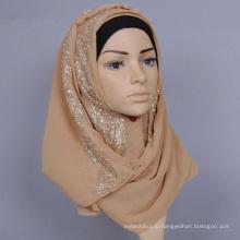 Ханчжоу Персонализированные шифон цельный хиджаб мусульманский хиджаб шарф мгновенных хиджаб для женщин