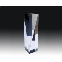 3D Laser Engraved K9 Crystal Peak Tower Award