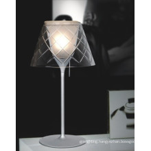 Nice Carbon Steel Glass Shade Table Lamp Decoration (267T3)