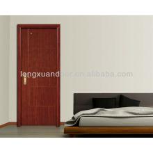 Portas interiores baratas, design de madeira de porta de sala, portas de madeira hdf