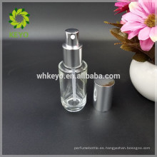 La botella líquida de la fundación del aceite esencial 30ml 50ml hace vacío la botella de la bomba de cristal de los cosméticos