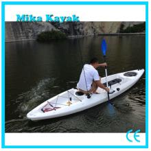 Pedal de Kayak de canoa de pesca de asiento sencillo con timón y paleta