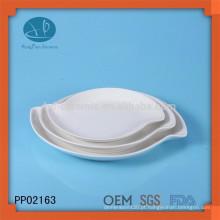 Placa de cerâmica popular conjunto, placa de jantar conjunto, oem placa de cerâmica branca
