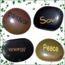 Hot Sale Engraved Cobble Stones for Crafts