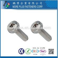 Hecho en Taiwán PH Diámetro de la cabeza de la cacerola 1.5mm Zinc plateado Tornillo que tacha del uno mismo
